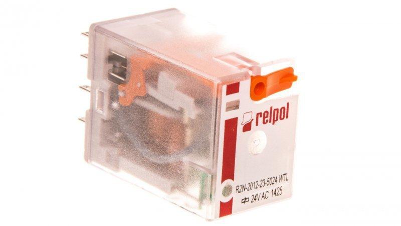 Przekaźnik przemysłowy 2P 24V AC AgNi R2N-2012-23-5024-WTL 860679