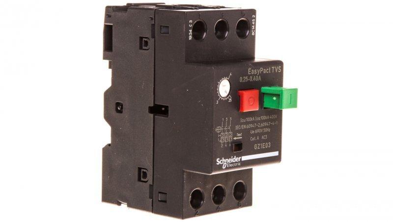 Wyłącznik silnikowy 3P 0,09kW 0,25-0,4A GZ1E03