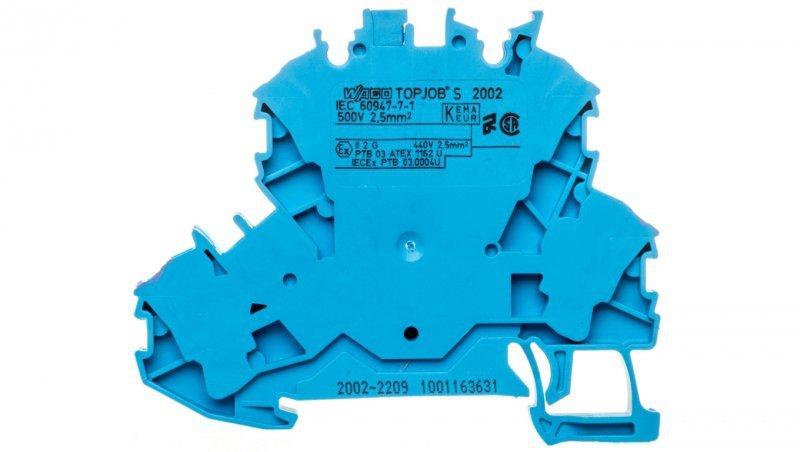 Złączka 2-piętrowa 2,5mm2 N niebieska 2002-2209 TOPJOBS
