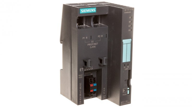 SIMATIC DP moduł interfejsu IM 151-3 PN ST dla ET 200S prędkość transmisji 100 Mbit/s 6ES7151-3AA23-0AB0