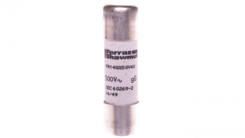 Wkładka bezpiecznikowa cylindryczna 14x51mm 40A gG 500V AC DF2EN40