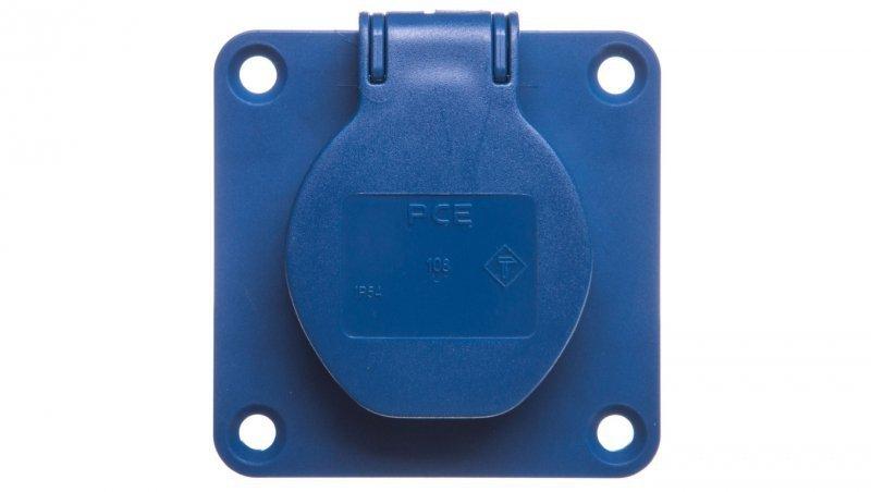 Gniazdo tablicowe 10/16A 2P+Z 230V /70x70/ niebieskie 108-7b