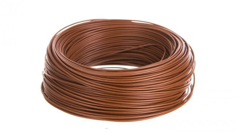 Przewód instalacyjny H05V-K 0,5 brązowy 29084 /100m/