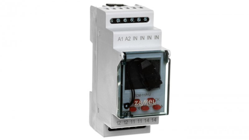 Programator czasowy cyfrowy 1-kanałowy tygodniowy pamięć zewnętrzna 24-250V AC / 30-300V DC ZCM-11P/U EXT10000186