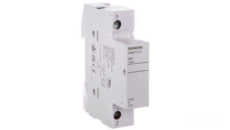 Rozłącznik bezpiecznikowy cylindryczny 1P 10x38mm 32A 3NW7013