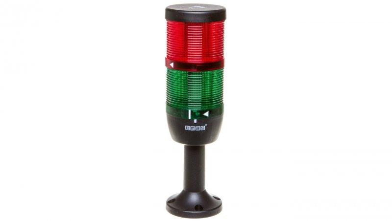 Kolumna sygnalizacyjna kompletna 70mm,2 człony 230V AC czerwony-zielony TK-IK72L220XM01