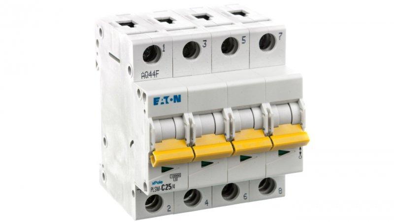 Wyłącznik nadprądowy 4P C 25A 10kA AC PLSM-C25/4-MW 242614