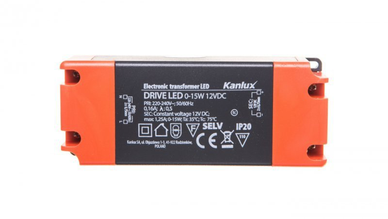 Zasilacz LED DRIVE LED 0-15W 12VDC 23860