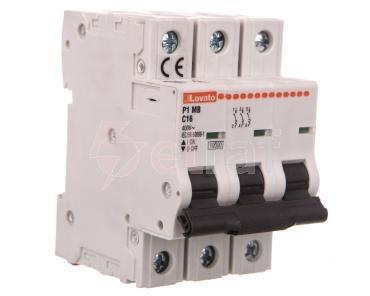 Wyłącznik nadprądowy 3P C 16A 10kA P1MB3PC16