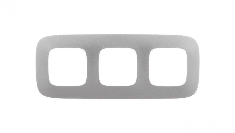 VALENA ALLURE Ramka potrójna aluminium 754393