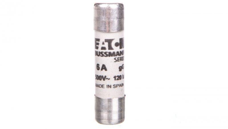 Wkładka bezpiecznikowa cylindryczna 10x38mm 6A gL/gG 500V C10G6