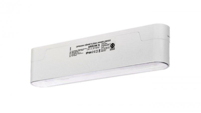 Oprawa awaryjna ARROW N LED 3W 1h jednozadaniowa AT biała ARNS/3W/E/1/SE/AT/WH