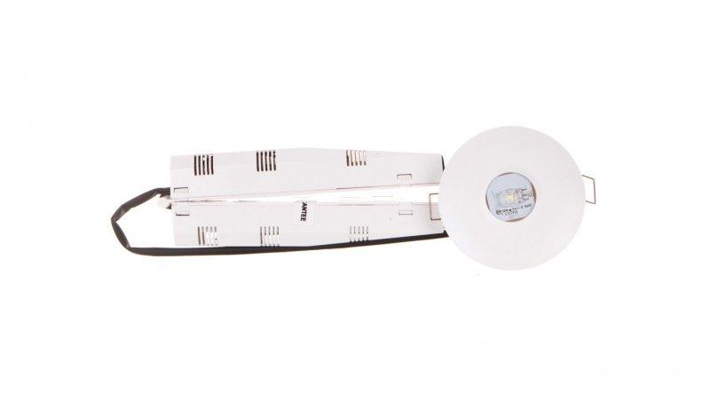 Oprawa awaryjna AXP IP65/20 ECO LED 3W 330lm (opt. universal) 1h jednozadaniowa AT biała AXPU/3W/E/1/SE/AT/WH