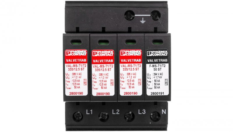 Ogranicznik przepięć  typu 1 3P+N VAL-MS-T1/T2 335/12.5/3+1 2800184
