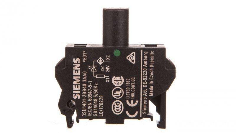SIRIUS ACT Blok LED 24V AC/DC zielony 3SU1401-2BB40-3AA0