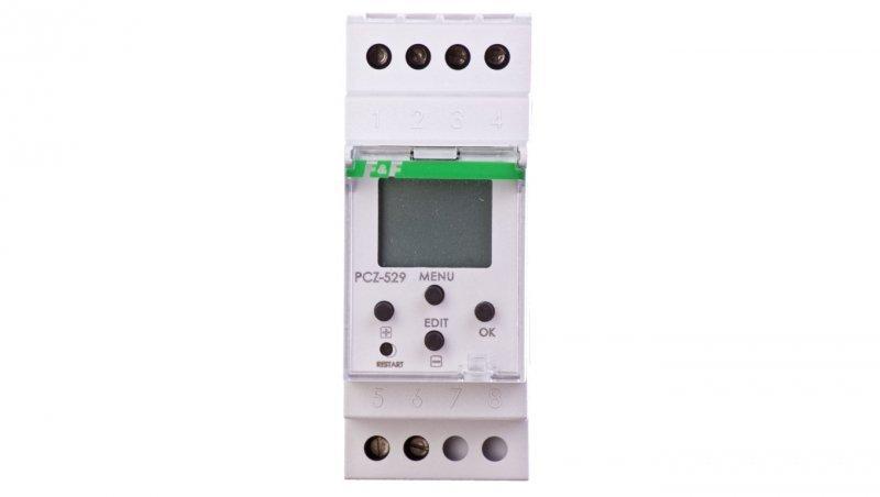 Zegar sterujący cyfrowy roczny 16A jednokanałowy 24-264V AC/DC PCZ-529