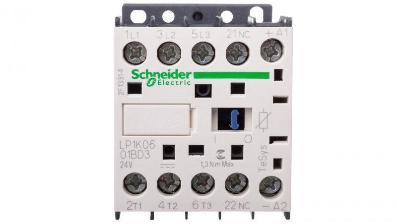 Stycznik mocy 6A 3P 24V DC 0Z 1R LP1K0601BD3