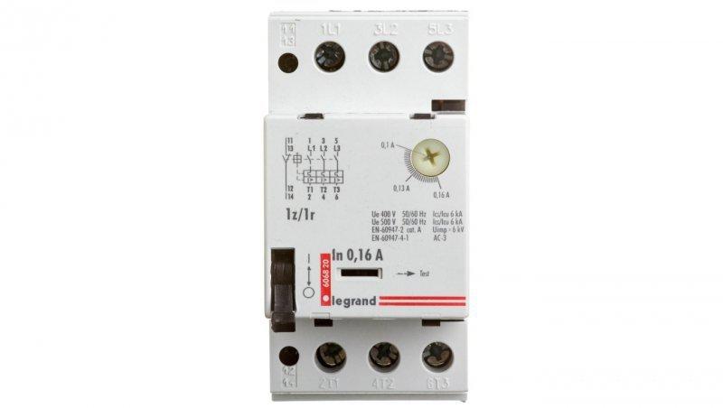 Wyłącznik silnikowy 3P 0,1-0,16A M 250 1R/1Z 0,16 606820