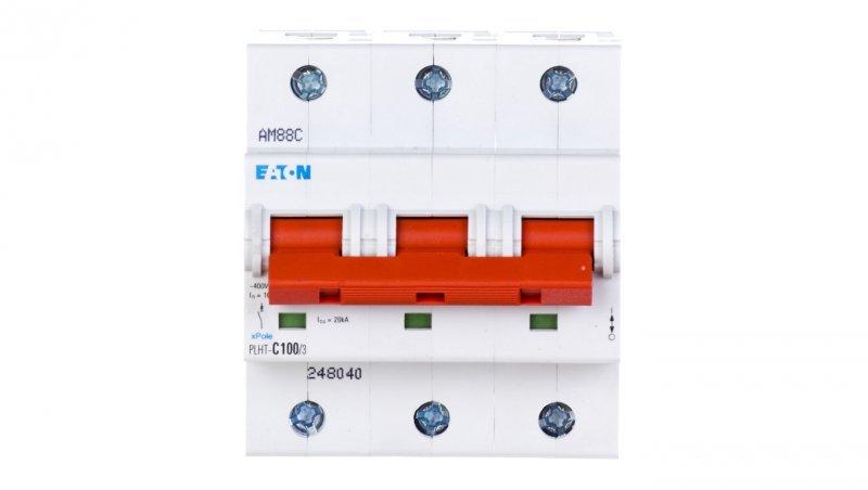 Wyłącznik nadprądowy 3P C 100A 20kA AC PLHT-C100/3 248040