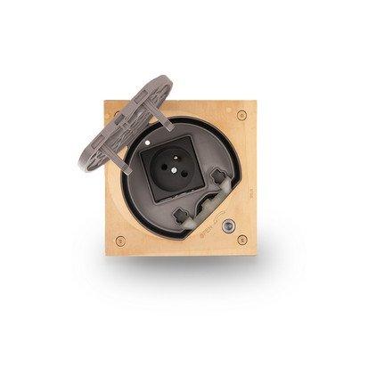Wkład puszki podłogowej KSE IP66 z gniazdem z uziemieniem z zamkiem na klucz imbusowy mosiądz IK:IK07