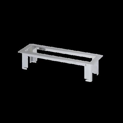 Ramka do montażu w zabudowie meblowej OFIBLOK LINE 4×K45 chrom