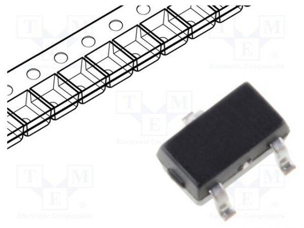 Dioda: przełączająca Schottky; SMD; 70V; 70mA; SOT323