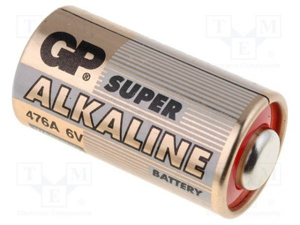 Bateria: alkaliczna; 6V; 4LR44; Il.bat: 1; Ø13x25mm; nieładowalna