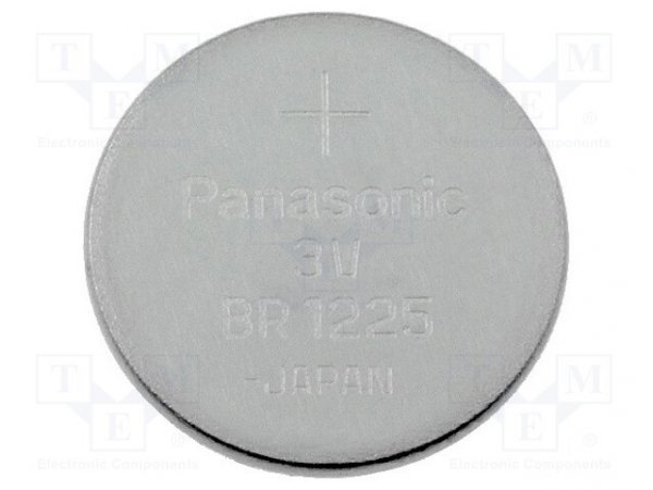 Bateria: litowa; 3V; BR1225,pastylkowa; Ø12x2,5mm; 48mAh