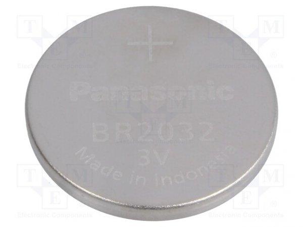 Bateria: litowa; 3V; BR2032,pastylkowa; Ø20x3,2mm; 200mAh