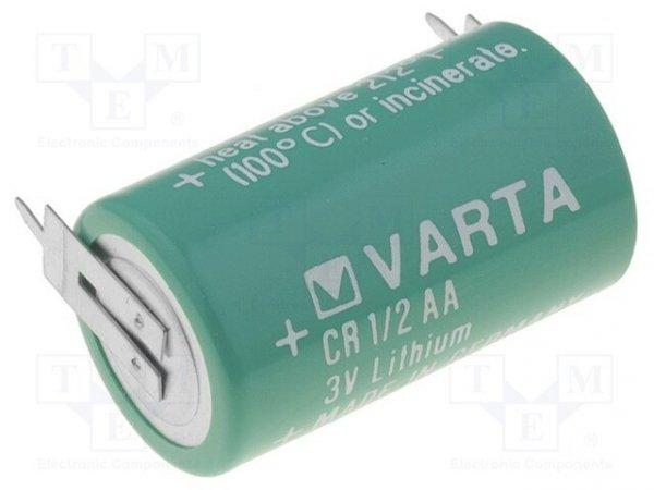 Bateria: litowa; 3V; 1/2AA,1/2R6; 2pin; Ø14,6x25mm; 950mAh