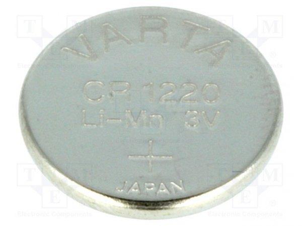 Bateria: litowa; 3V; CR1220,pastylkowa; Ø12,2x2mm; 35mAh