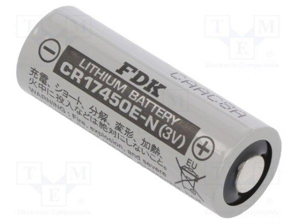 Bateria: litowa; 3V; 4/5A,CR8L; Ø17x45mm; 2600mAh; nieładowalna