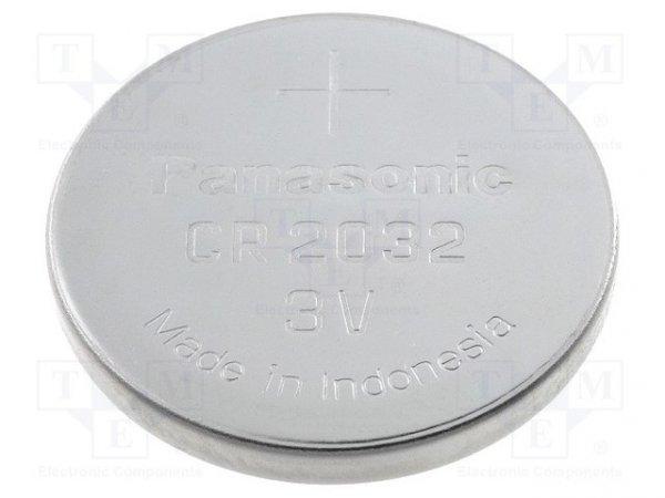 Bateria: litowa; 3V; CR2032,pastylkowa; Ø20x3,2mm; 220mAh