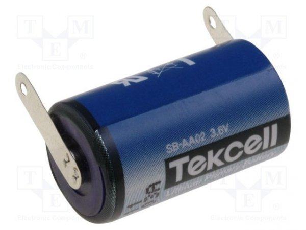 Bateria: litowa; 3,6V; 1/2AA; blaszki lutownicze; Ø14,3x24,6mm