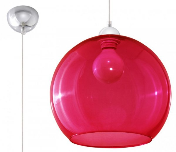 Lampa Wisząca BALL Czerwona