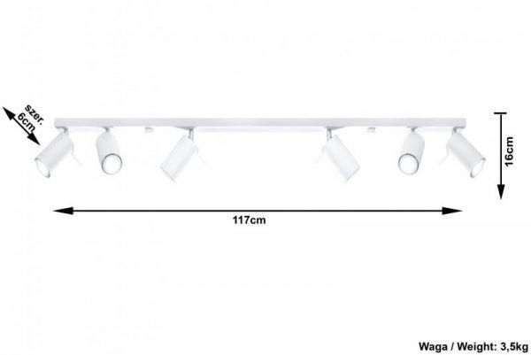 Plafon RING 6L Biały