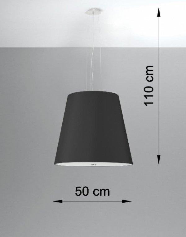 Żyrandol GENEVE 50 czarny