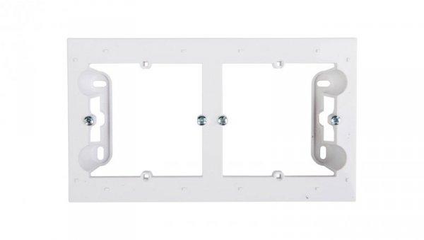 Simon 54 Premium Puszka natynkowa podwójna płytka biała DPN2/11 WMDZ-2