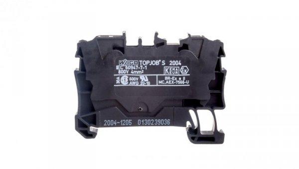 Złączka szynowa 2-przewodowa 4mm2 czarna 2004-1205 TOPJOBS