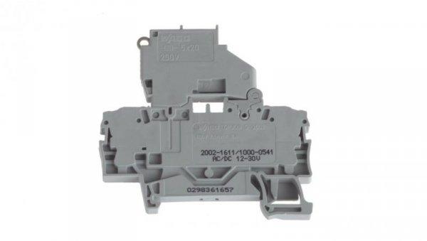 Złączka bezpiecznikowa 2,5mm2 szara 6.3A G 5x20mm 2002-1611/1000-541 TOPJOBS