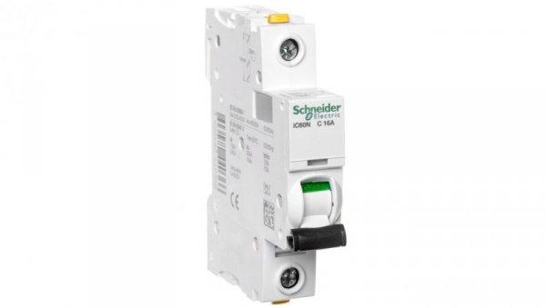 Wyłącznik nadprądowy 1P C 16A 6kA AC iC60N-C16 A9F04116
