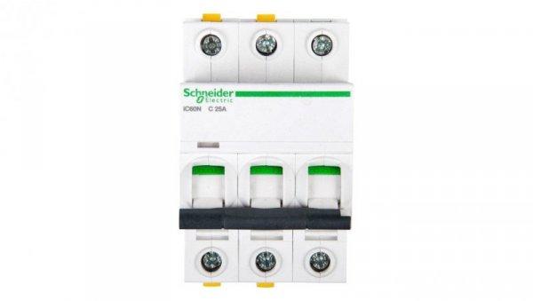 Wyłącznik nadprądowy 3P C 25A 6kA AC iC60N-C25-3 A9F04325
