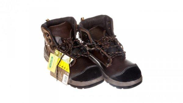 Buty skórzane licowe 45 kasztanowe FRONTS3MA45