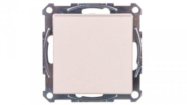 Merten System M Gniazdo pojedyncze z/u 16A IP20 z klapką kremowe MTN2510-0344