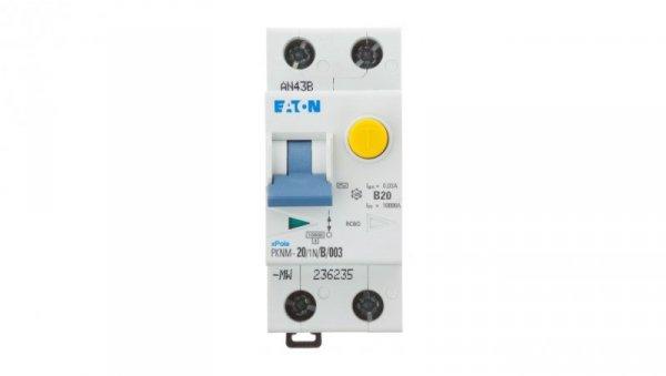 Wyłącznik różnicowo-nadprądowy 2P 20A B 0,03A typ AC PKNM 20/1N/B/003 236235