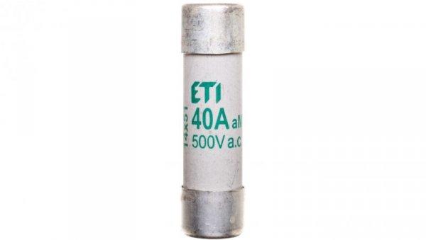 Wkładka bezpiecznikowa cylindryczna 14x51mm 40A aM 500V CH14 002631017