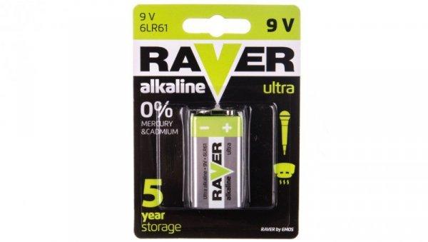 Bateria alkaliczna 6LF22 / 9V RAVER ULTRA B7951 /blister 1szt./