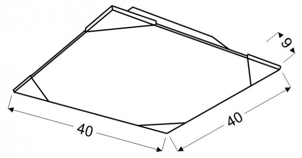 CEDRA PLAFON 40X40 3X60W E27