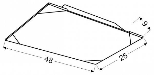 CEDRA PLAFON 25X48 2X60W E27