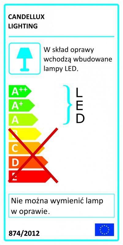 RAPSODY PLAFON 40X40 1X18W LED KWADRAT